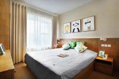 简洁素雅90㎡三居室装修卧室效果图片大全