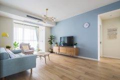 时尚北欧风格三居室电视背景墙装修图片