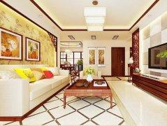 客厅现代新中式家装效果图