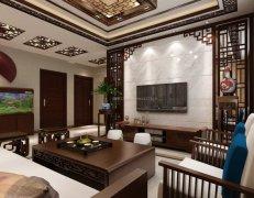 客厅典雅中式家装效果图