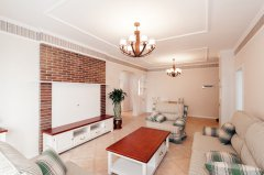 83平米英式田园风格家具客厅装修效果图