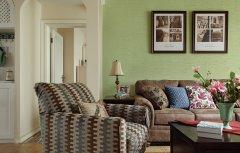 三居室田园风格欧式沙发背景墙图片大全
