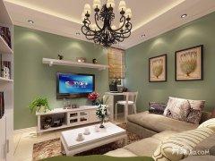 小户型美式田园风格两室一厅装修效果图
