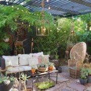 漂亮温馨的庭院装扮效果图
