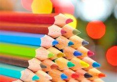 七彩铅笔空间图片_多姿多彩的铅笔
