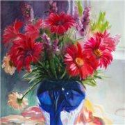 唯美油画花卉头像_幸福与爱之花
