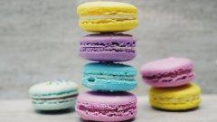 五彩繽紛的小圓餅 法式小圓餅馬卡龍圖片