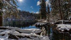 瑞士雪景高清图片
