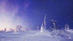 迷人冬日雪景风景高清桌面壁纸图片