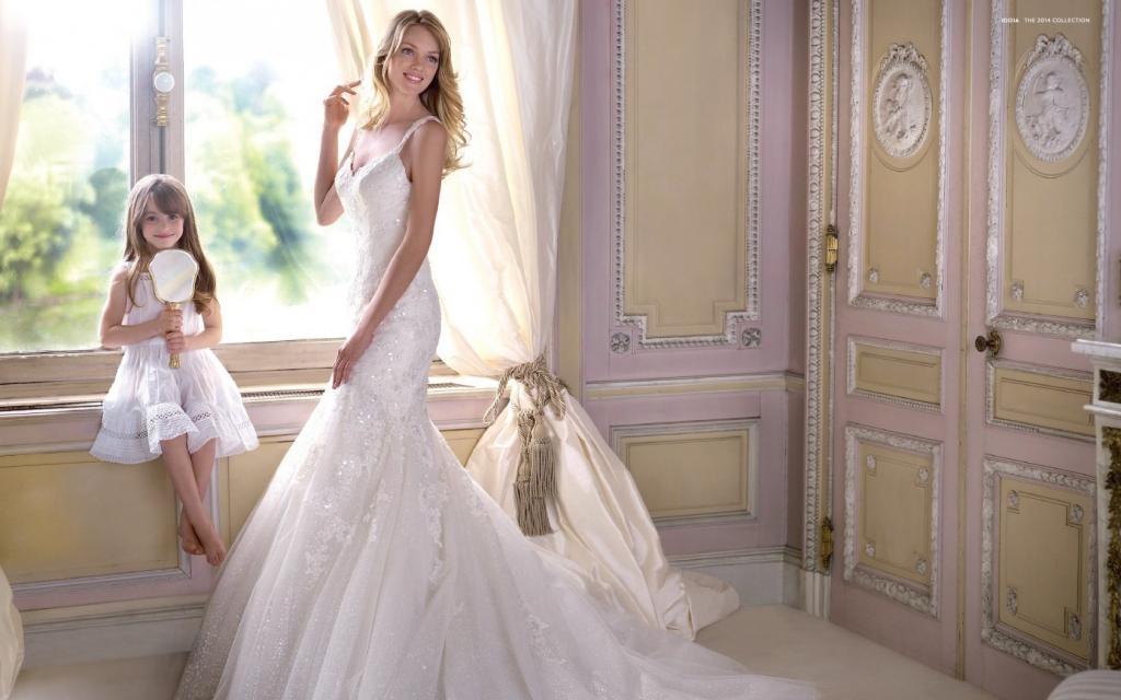 琳赛·艾林森唯美婚纱壁纸图片