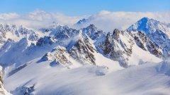 瑞士铁力士山壮丽雪景图片