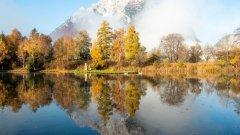 迷人湖泊倒影景色图片