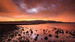 塔斯马尼亚岛唯美晚霞图片