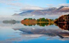 秋水长天河岸唯美风景壁纸