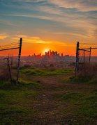 日落时分的洛杉矶图片