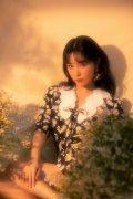 阚清子复古风雏菊连衣裙温柔优雅写真图片