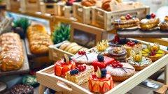 商店里的面包图片