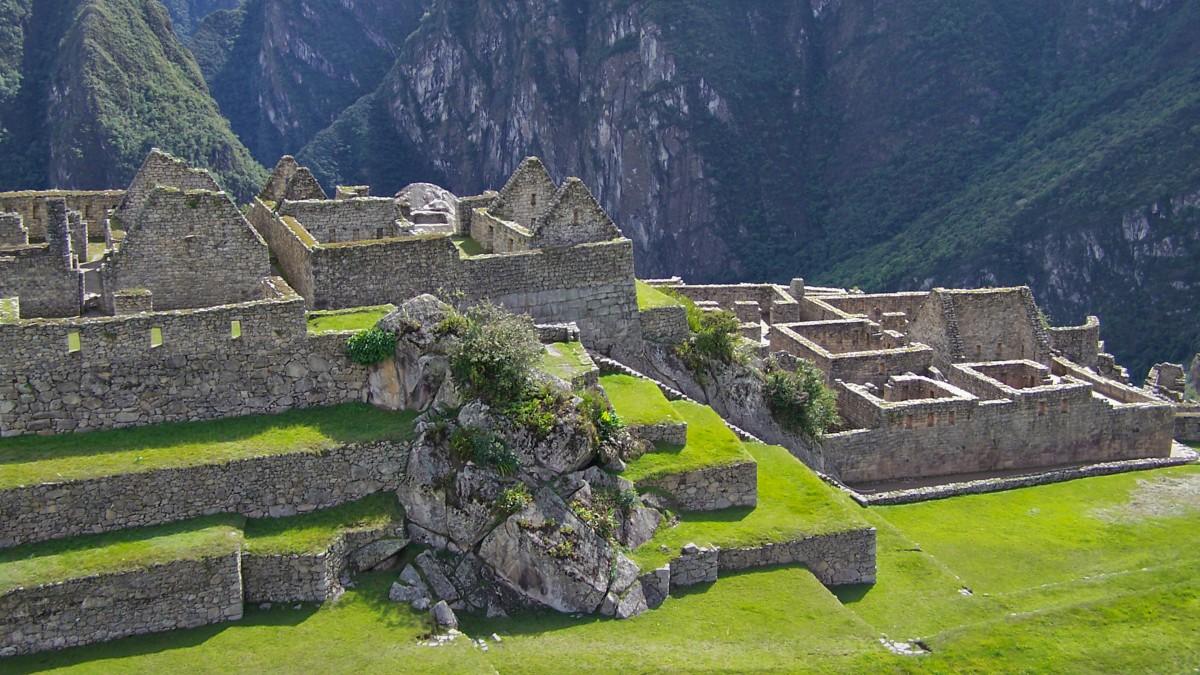 秘鲁马丘比丘印加遗址图片